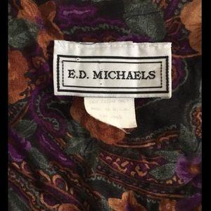 Vintage Dresses - Womens E. D. Michaels Vintage Maxi Floral Dress